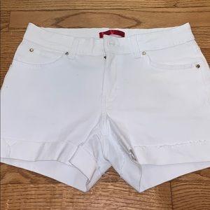 Jlo white shorts
